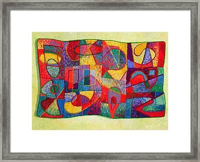 Jigsaw Tapestry Framed Print