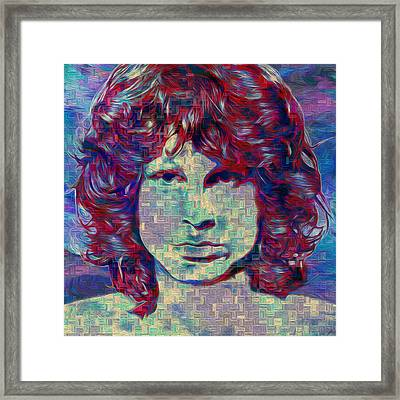 Jim Morrison Framed Print by Jack Zulli