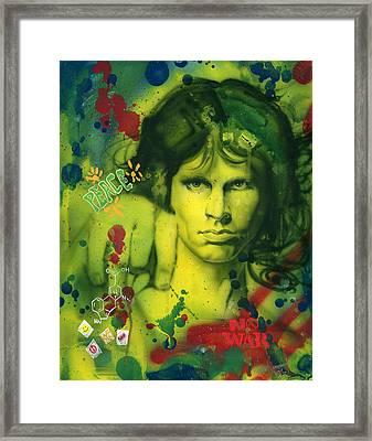 Jim Morrison Framed Print by Luis  Navarro