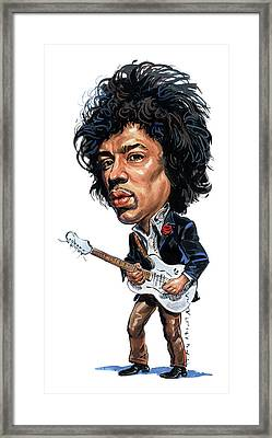 Jimi Hendrix Framed Print by Art
