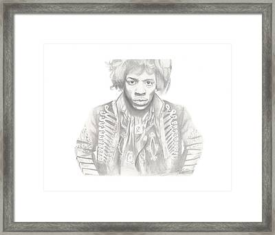 Jimi Hendrix Framed Print by Don Medina