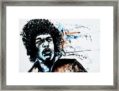 Jimi Hendrix  Framed Print by Ismeta Gruenwald