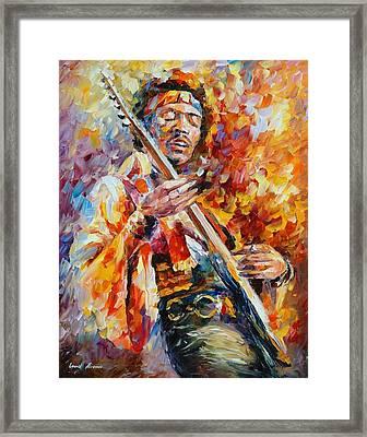 Jimi Hendrix Framed Print by Leonid Afremov