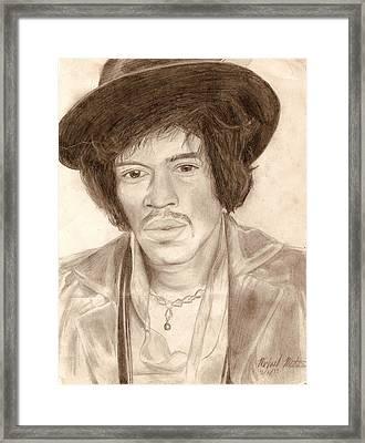 Jimi Hendrix Framed Print by Michael Mestas