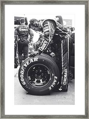 Jimmie Johnson Pit Crew Framed Print by Shanna Vincent