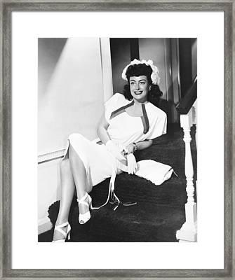 Joan Crawford, Ca. Early 1940s Framed Print