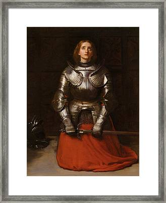 Joan Of Arc  Framed Print by John Everett Millais