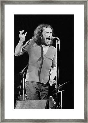 Joe Crocker Live At Port Chester Framed Print by Raeanne Rubenstein