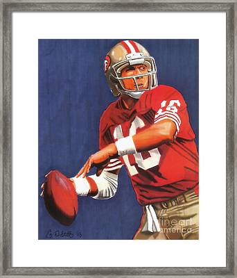 Joe Montana Framed Print