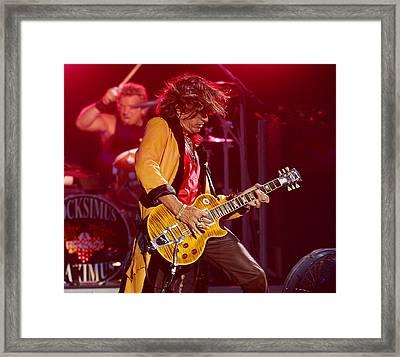 Joe Perry Aerosmith Framed Print by Don Olea