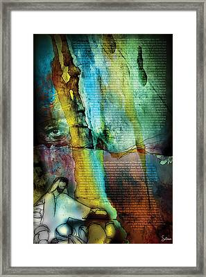 John 1 Framed Print by Switchvues Design