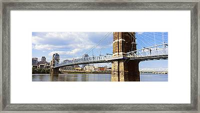 John A. Roebling Suspension Bridge Framed Print