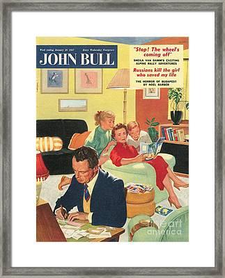 John Bull 1950s Uk Holidays  Brochures Framed Print by The Advertising Archives