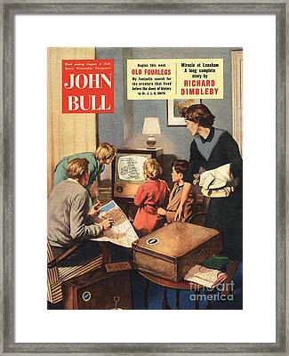 John Bull 1950s Uk Holidays Weather Framed Print by The Advertising Archives