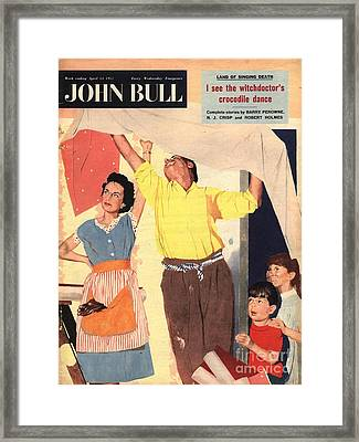 John Bull 1957 1950s Uk Expressions Framed Print by The Advertising Archives