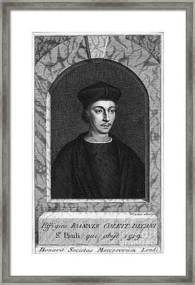 John Colet, English Humanist Theologian Framed Print by Middle Temple Library