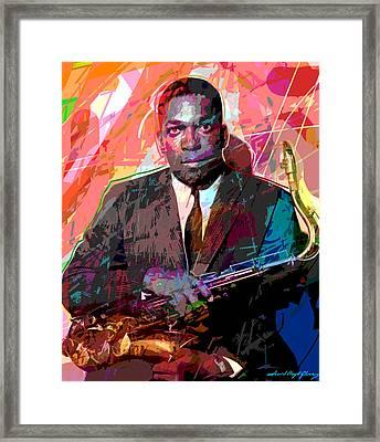 John Coltrane Framed Print by David Lloyd Glover