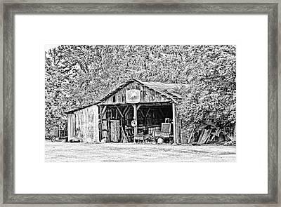 John Deere Barn Framed Print