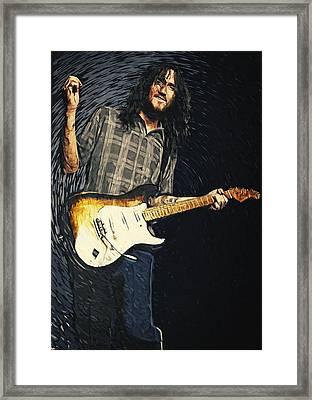 John Frusciante Framed Print by Taylan Apukovska