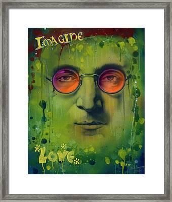 John Lennon Framed Print by Luis  Navarro