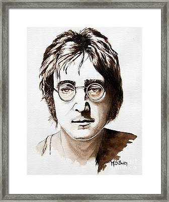 John Lennon Framed Print by Maria Barry