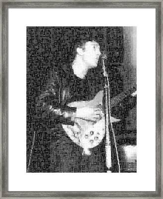 John Lennon Mosaic Image 3 Framed Print