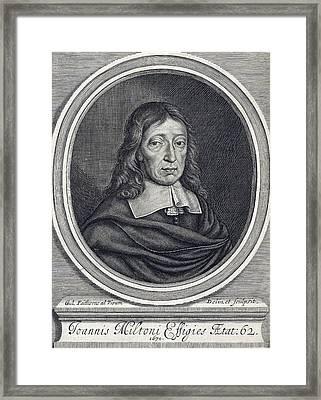 John Milton, English Poet Framed Print
