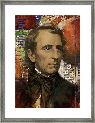 John Tyler Framed Print by Corporate Art Task Force