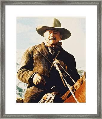 John Wayne In The Shootist Framed Print