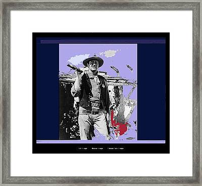 John Wayne Rio Bravo Publicity Photo 1959 Old Tucson Arizona Framed Print by David Lee Guss