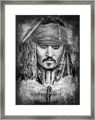 Johnny Depp Framed Print by Andrew Read