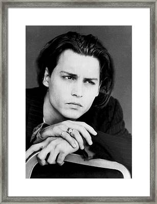 Johnny Depp Framed Print by Karon Melillo DeVega
