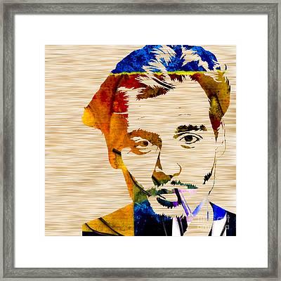 Johnny Depp Framed Print by Marvin Blaine