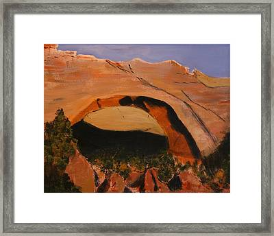 Johnson Arch Framed Print