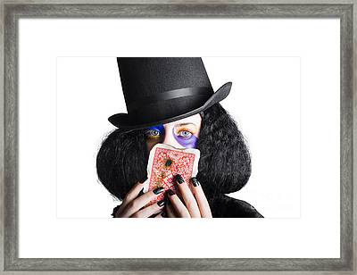 Joker With Burnt Playing Card Framed Print by Jorgo Photography - Wall Art Gallery