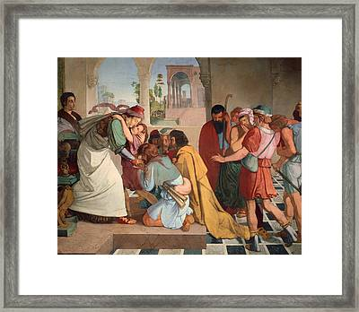 Joseph Reveals Himself To His Brothers Framed Print by Mountain Dreams