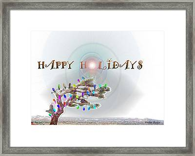 Joshua Tree Holiday Framed Print by Carlos Reyes