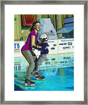 Joy On Ice Framed Print