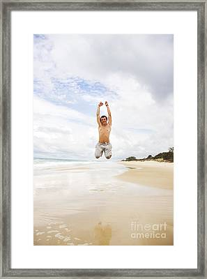 Joyful Jumper Framed Print by Jorgo Photography - Wall Art Gallery