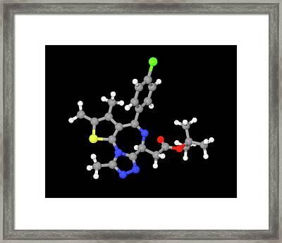Jq1 Experimental Drug Molecule Framed Print by Dr Tim Evans
