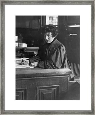 Judge Carroll Mccomas Framed Print by Underwood Archives