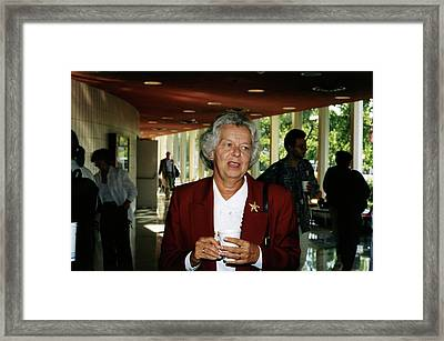 Judy Franz Framed Print by Emilio Segre Visual Archives/american Institute Of Physics