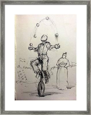 Juggler Framed Print by H James Hoff