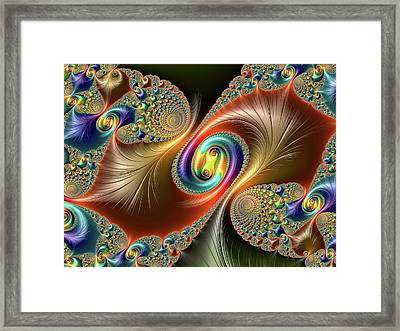 Julia-set Fractal Framed Print by Alfred Pasieka