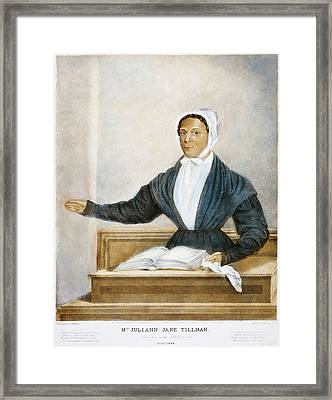 Juliann Jane Tillman, 1844 Framed Print