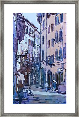 July In Florence Framed Print by Jenny Armitage
