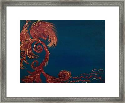 Jumbie Under De' Ocean Framed Print by Robert Nickologianis