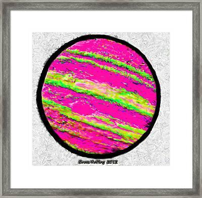 Jupiter In Many Colors Framed Print