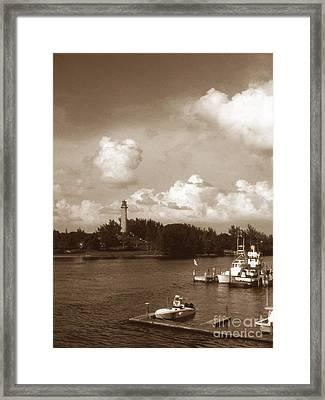 Jupiter Inlet Lighthouse Framed Print by Skip Willits