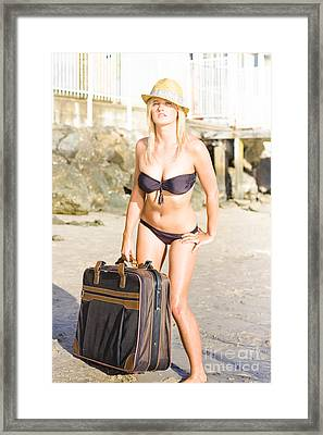 Just Take Me To The Beach Framed Print